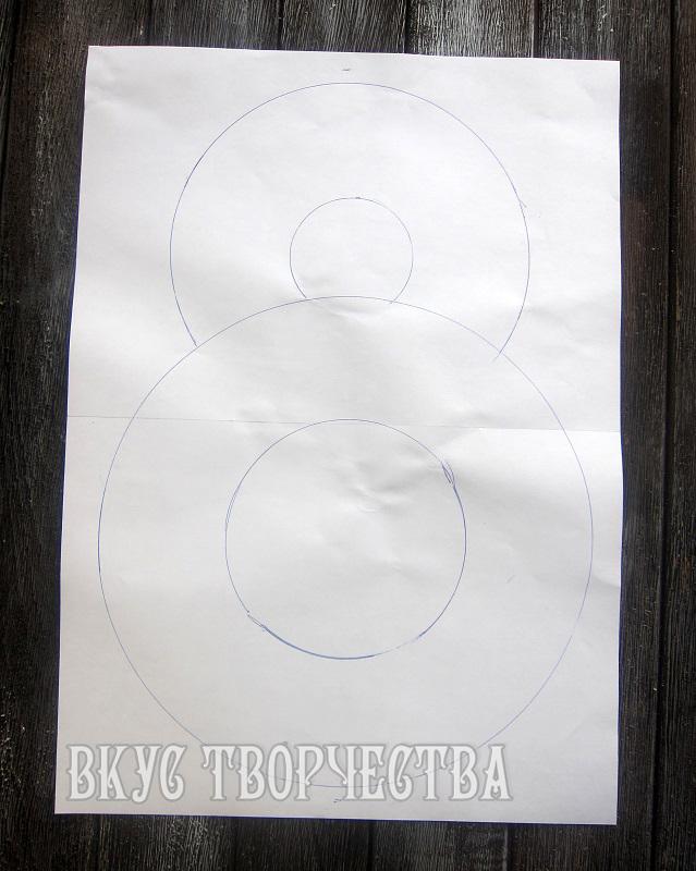цифра 8 нарисована на листе бумаги