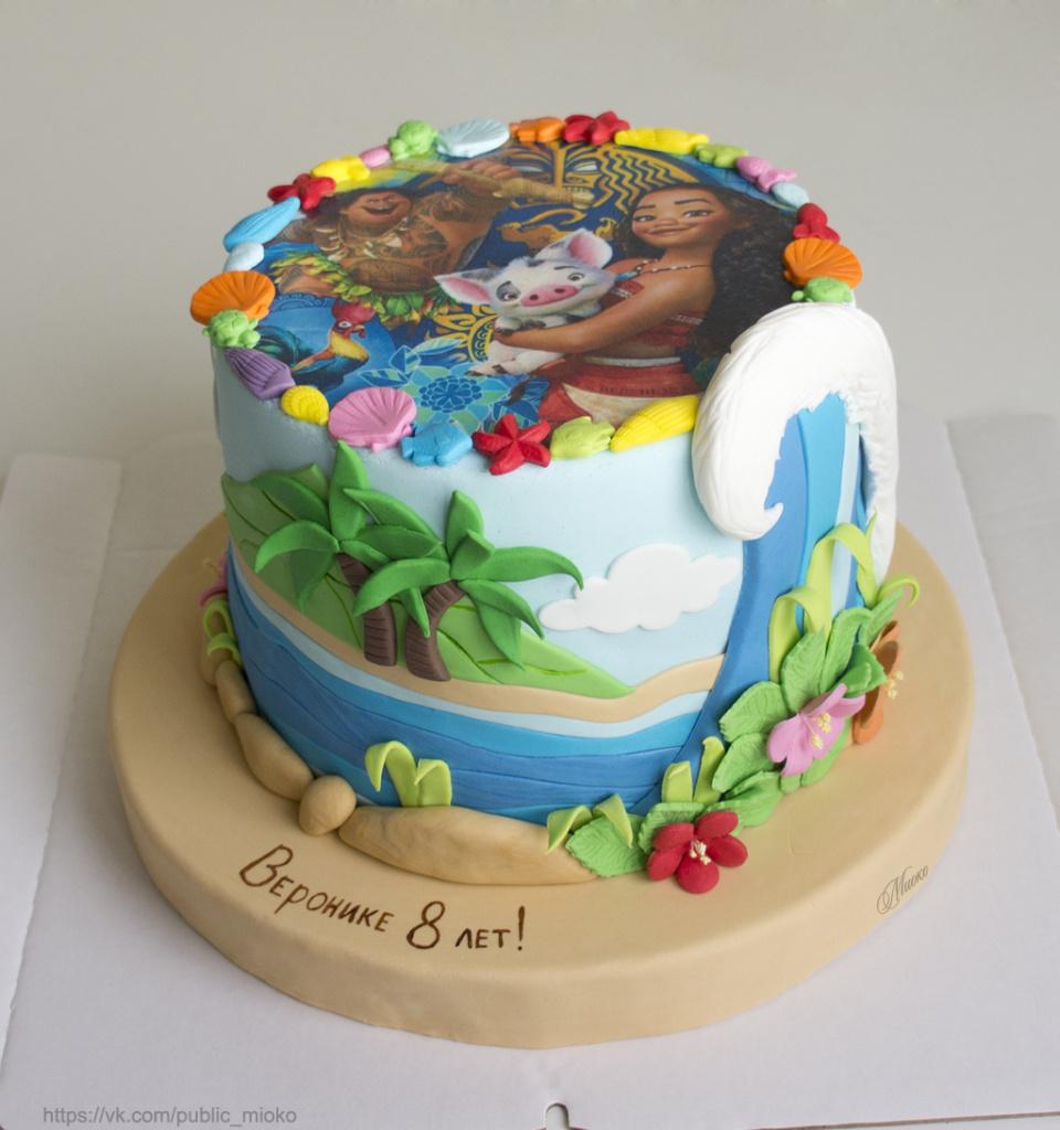 декор края торта фигурками из мастики