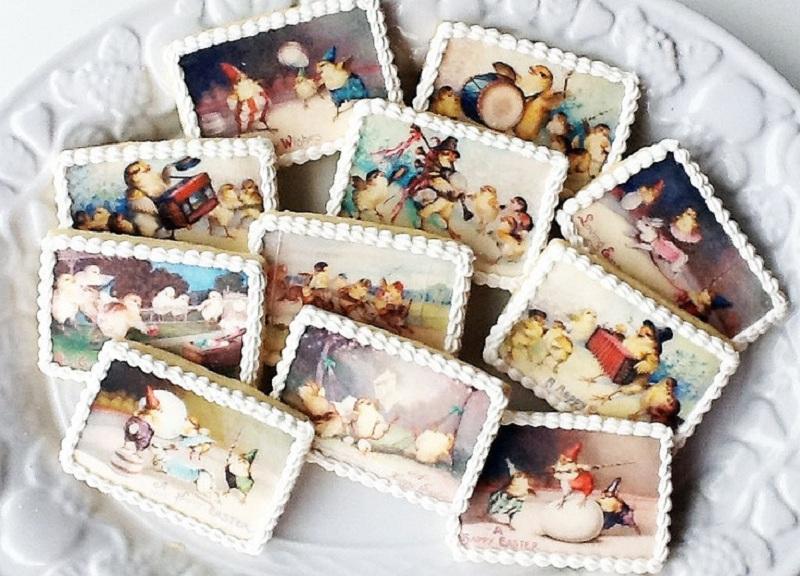 Пряники с вафельной картинкой фото