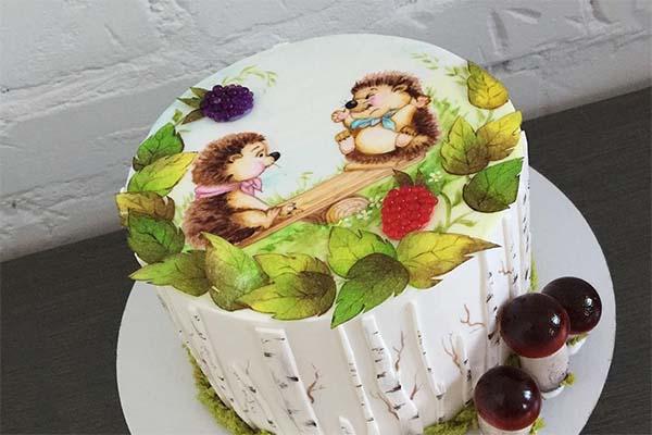 сахарную картинку как укладывают на торт раз даже