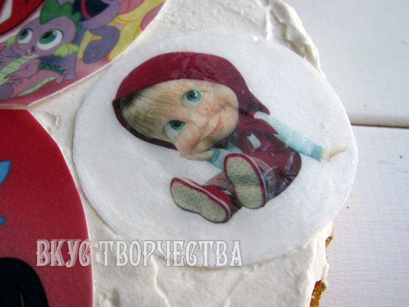 сахарную картинку как укладывают на торт парижель копченой
