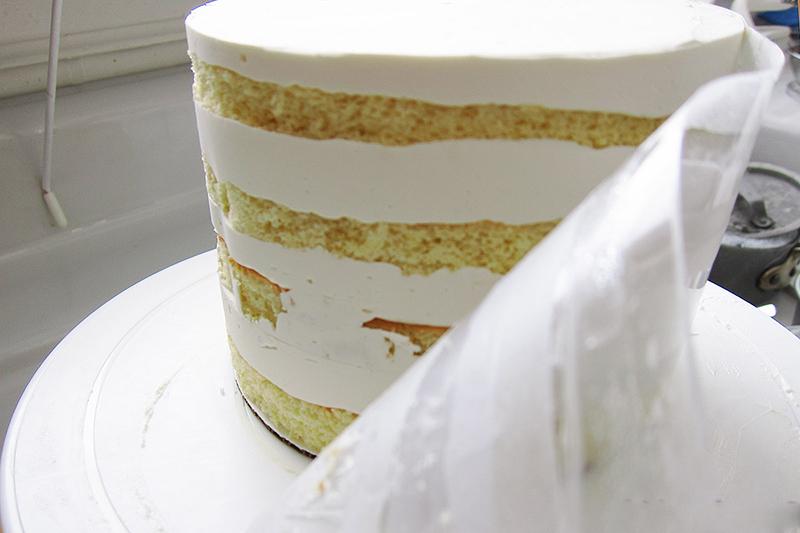 сборка ровного торта