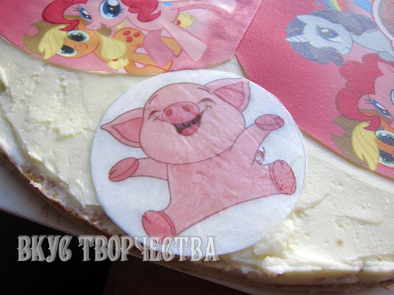 Сахарную картинку как укладывают на торт