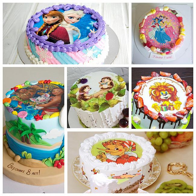 Как декорировать края торта с вафельной или сахарной картинкой